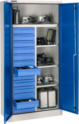 Schrank MS 2509/13 IP hellsilber/blau