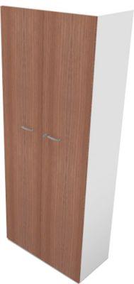 Schrank PHENOR, 5 OH, Holztüren, H 2140 x B 860 x T 430 mm, Nuss Canaletto-Dekor