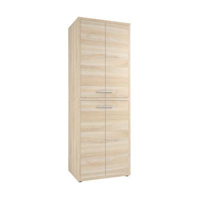 Schrank Player, 6 Ordnerhöhen, 4 Türen, Breite 789 mm, Eiche
