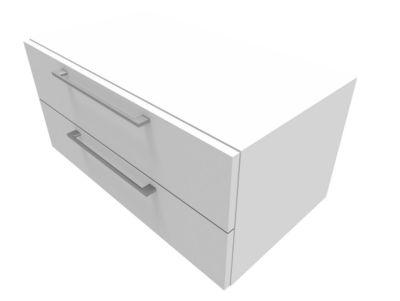 Schrank SOLUS PLAY, 2 Schübe, B 800 x T 440 x T 374 mm, weiß