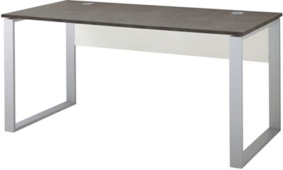 Schreibtisch ALTINO, Rechteck, Kufengestell, B 1600 x T 800 mm, basalto dunkelbraun
