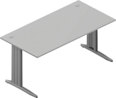 Schreibtisch ARLON-OFFICE, B 1600 x T 800 x H 730 mm, lichtgrau