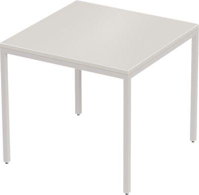 Schreibtisch PROPLANA, 4-Fuß, Rechteck, B 800 x T 800 x H 720 mm, lichtgrau/weißalu