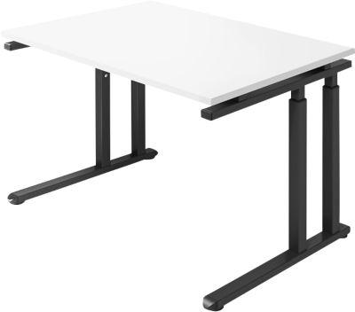 Schreibtisch SET UP, C-Fußgestell, 1200x800, weiß/graphit