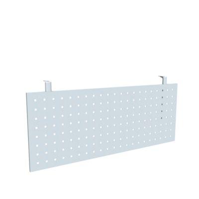 Schreibtisch Sichtblende, geeignet für Tische mit B 1200 mm, Lochraster, alusilber