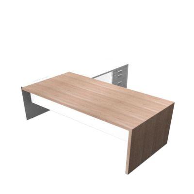 Schreibtisch, Sideboard X-TIME-WORK, Wange, Rechteck, rechts, B 2196 mm, Ulme