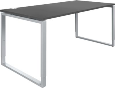 Schreibtisch Sincero Line, Bügelfuß, Breite 1600 mm, höhenverstellbar, graphit