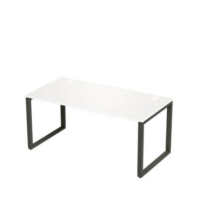 Schreibtisch SINCERO LINE, Kufengestell, Rechteck, B 1600 x T 800 mm, weiß/graphit