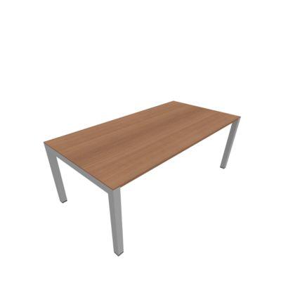 Schreibtisch SOLUS PLAY, 4-Fuß, höhenverstellbar, B 1600 x T 800 x H 720 - 820 mm, Kirsche Romana