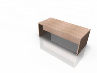 Schreibtisch X-TIME-WORK, Wange, Rechteck, B 2000 x T 900 x H 730 mm, Ulme