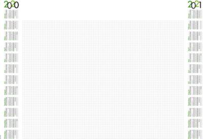 Schreibunterlage, mit Kalendarium 2020 + 2021, schwarz/grün