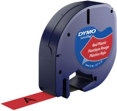 Schriftbandkassette für DYMO® Letra Tag, Kunststoff, 12 mm, rot