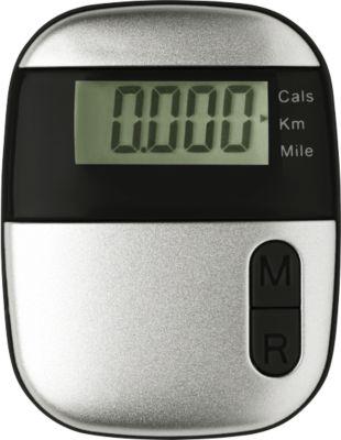 Schrittzähler Onmood, mit Entfernungsmesser, mit Kalorienzähler, mit Clip, schwarz
