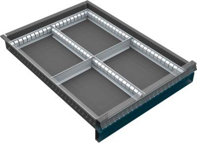 Schubkasten-Teiler 500 4F. 60-120mm