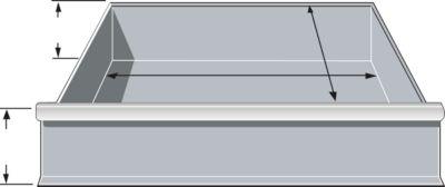 Schubladen, für Feldbreite 995 mm, H 206 mm, T 400 mm, hellsilber
