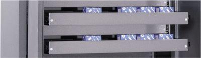 Schubladenblock, hellsilber pulverbeschichtet, 1200 mm breit