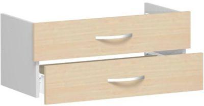 Schubladeneinsatz ALICANTE, 2 Schübe = 1 Set, B 800 x T 400 x H 384 mm, Ahorn-Dekor