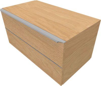 Schubladenschrank QUANDOS BOX, 1 Schub, B 1000 x T 440 x H 374 mm, Eiche Masonic