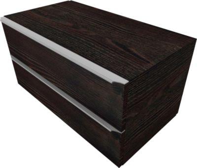 Schubladenschrank QUANDOS BOX, 2 Schübe, B 1000 x T 440 x H 374 mm, Mooreiche