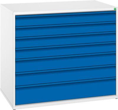 Schubladenschrank Serie Verso, 7 Schubladen, ohne Schloss, Breite 1050 mm