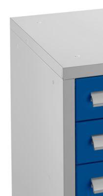 Schubladenschrank SF 70, 7 Schübe, alusilber/enzianblau