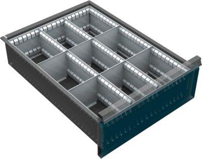 Schubladenunterteilung, 9 Fächer, 150-240 mm