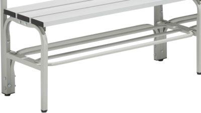 Schuhrost für Umkleidebank, Stahl, 1015 mm lang, lichtgrau