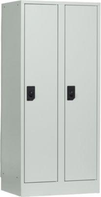 Schulspind, Abteilbreite 300 mm, 2 Abteile, lichtgrau/lichtgrau