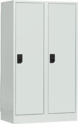 Schulspind, Abteilbreite 400 mm, 2 Abteile, lichtgrau/lichtgrau