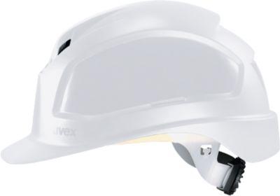 Schutzhelm Uvex pheos B-WR, EN 397, Schirm & Belüftung, Größen 52-61, weiß