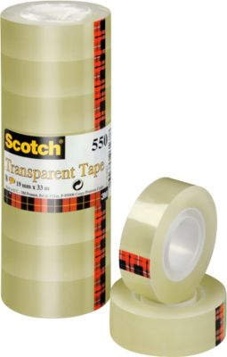 Scotch Cristal plakband, 19mm x 33m, 8 rol