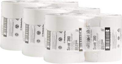 SCOTT Toiletpapier, 2-laags, JUMBO rol van 380 m, 6 rollen