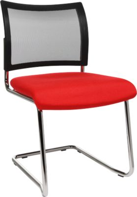SEAT POINT sledestoel, net, zonder armleuningen, stapelbaar, 2 stuk, rood