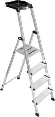 Secury Stufen-Stehleiter, 4 Stufen