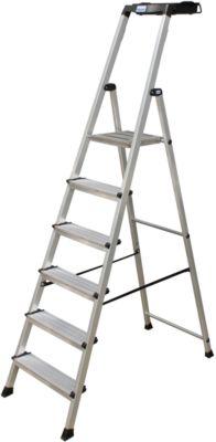 Secury Stufen-Stehleiter, 6 Stufen