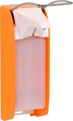 Seifen- und Desinfektionsmittelspender Ingo-man plus, 1000 ml, leuchtorange