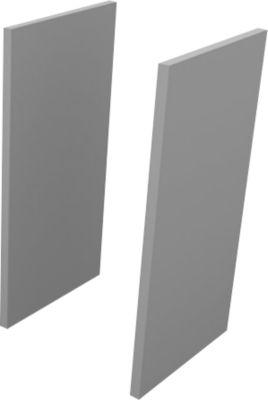 Seitenblenden, 2 OH, 2 Stück, H 860 x B 30 x T 430 mm, grau
