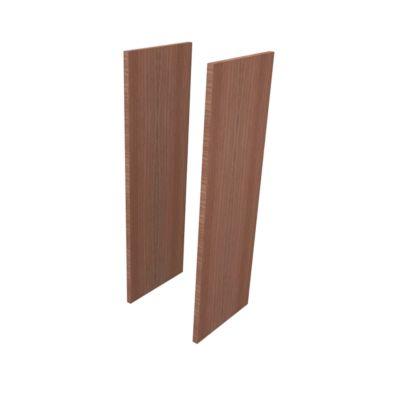 Seitenblenden PHENOR, 3 OH, 2 Stück, H 1310 x B 30 x T 430 mm, Nuss Canaletto-Dekor