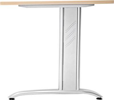 Seitenblenden TARA, 2 Stück, einliegend, für Schreibtischgestelle, weißalu