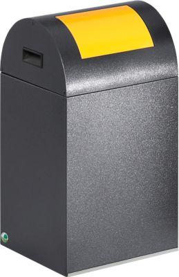 Selbstlöschende Wertstoff-Abfallsammler 40R, antiksilber/gelb