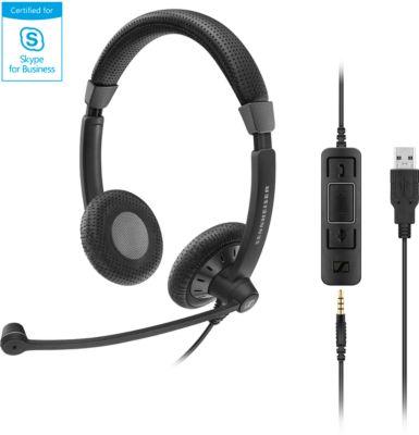 Sennheiser Headset SC 75 USB MS, Dual-Konnektivität, kabelgebunden, binaural