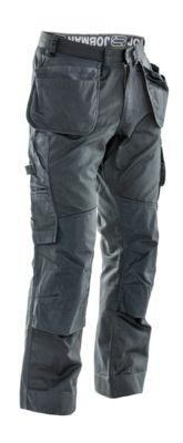 Service Hose mit Hängetaschen dunkelgrau C154