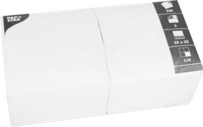 Servietten 3-lagig 330x330 mm weiß, 250 St.
