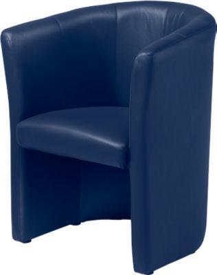 Sessel Club, Lederoptik, blau