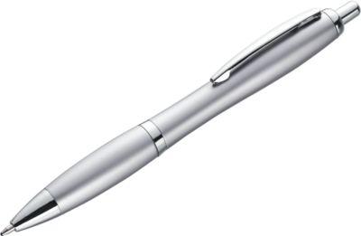 SET Druckkugelschreiber Brüssel, 500teilig, silber, inkl. einfarbigem Werbedruck