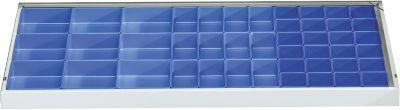 Set inzetbakken, 45-dlg., blauw