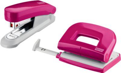 Set Novus Evolution Twin: perforator + nietmachine + nietjes, pink