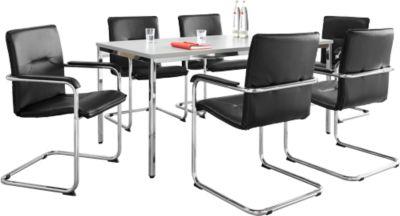 Set RUMBA: vergadertafel + 6 bezoekersstoelen