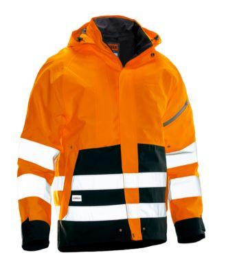 Shell Jacke HiVis orange/schwarz 3XL