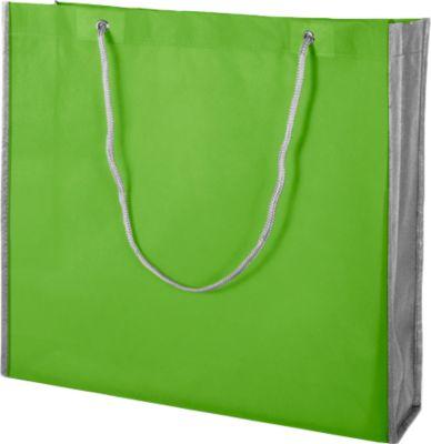 Shopper-Bag, grün/grau